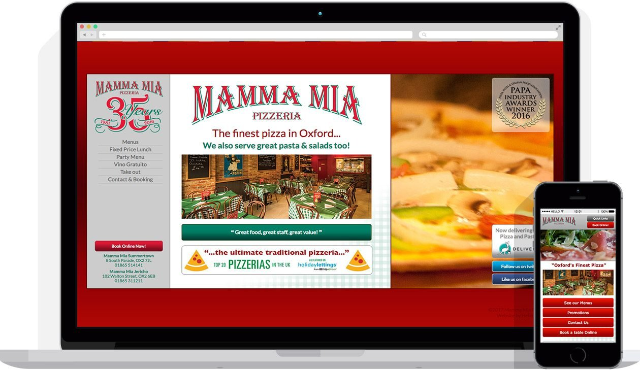 by Hello Design for Mamma Mia Pizzeria