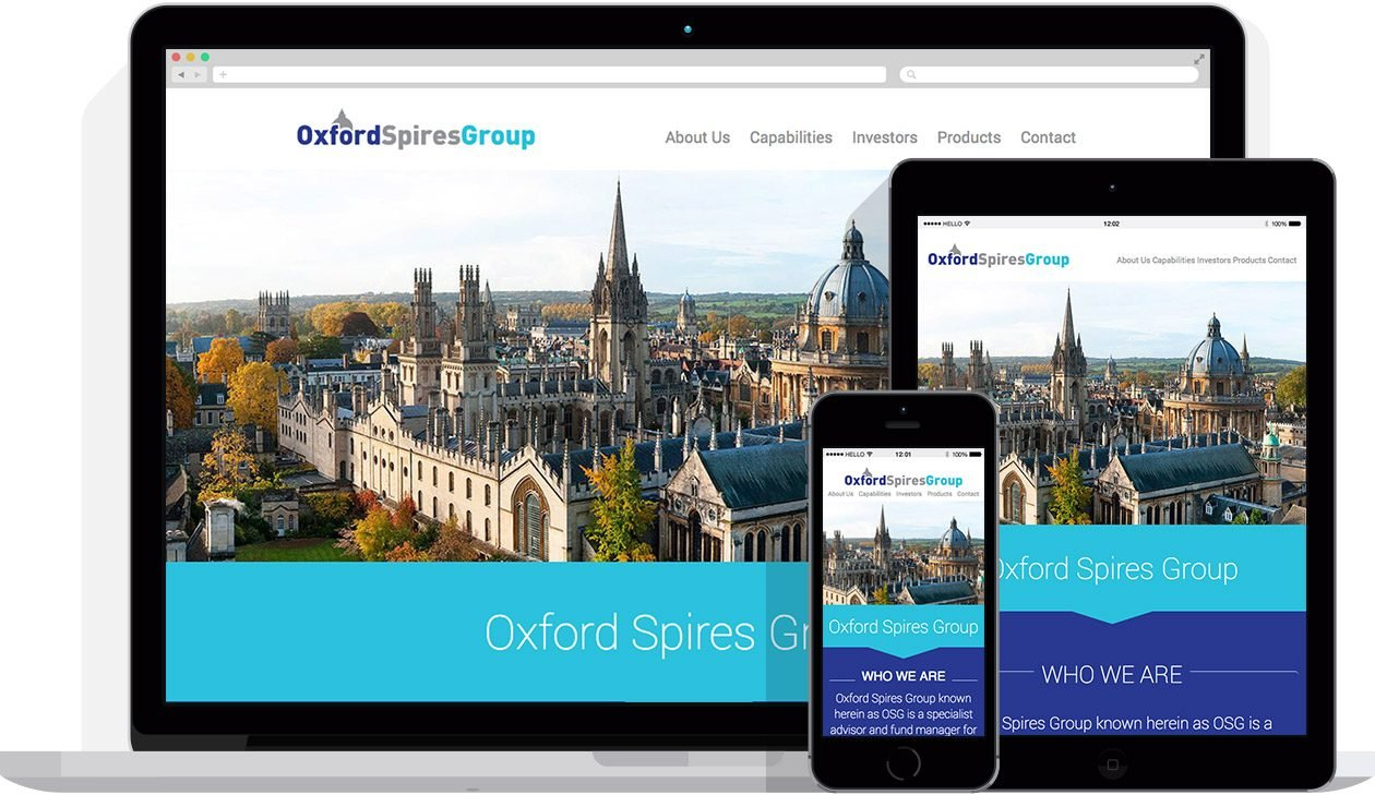 Web Design by Hello Design for Oxford Spires Group
