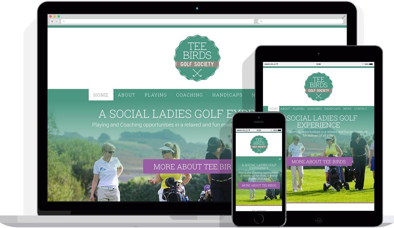 Web Design by Hello Design for Tee Birds