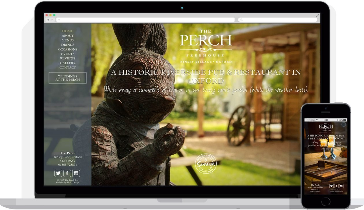 Web Design by Hello Design for The Perch