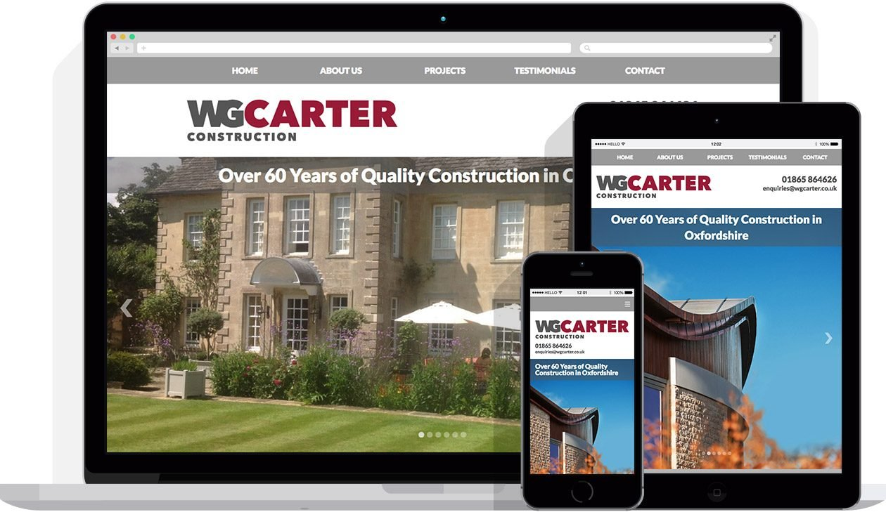 Web Design by Hello Design for WG Carter