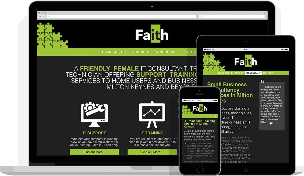 Web Design by Hello Design for Faith in IT