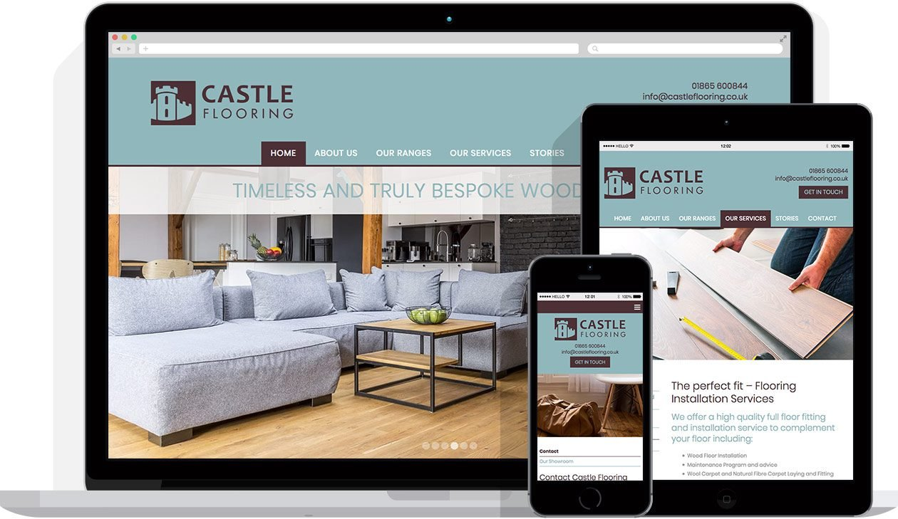 Web Design by Hello Design for Castle Flooring