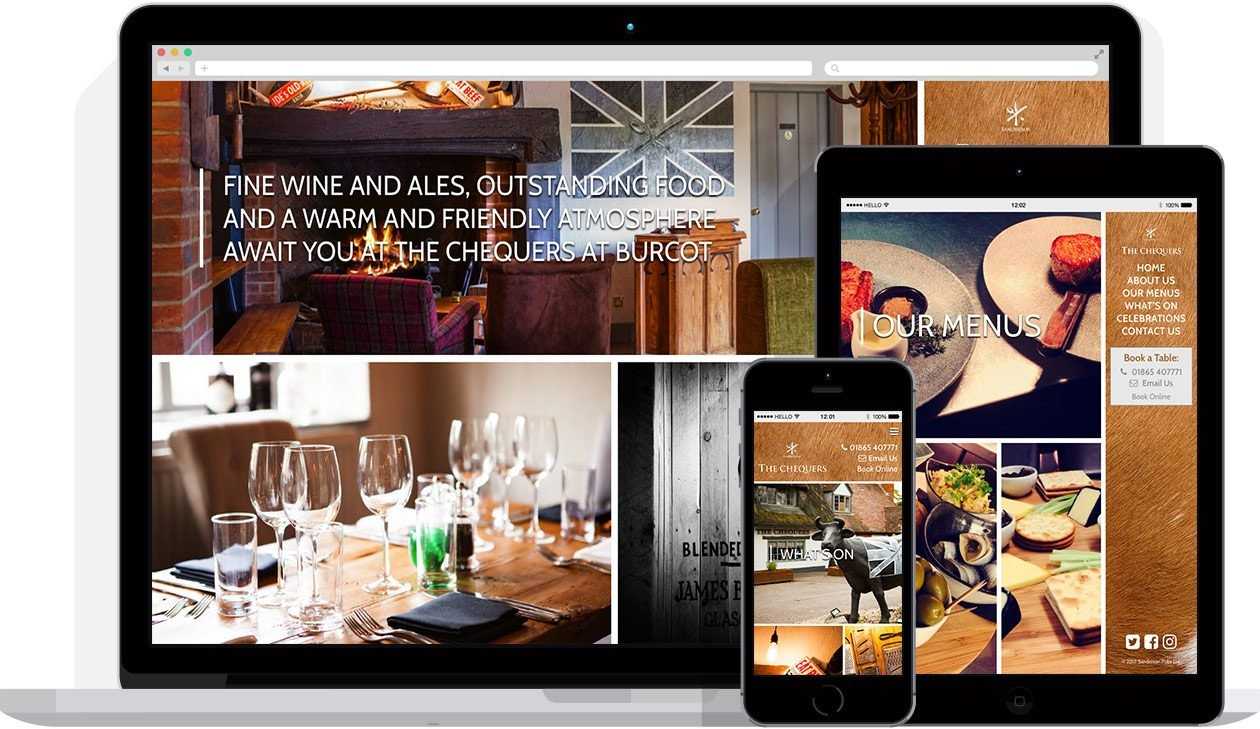 Web Design by Hello Design for The Chequers