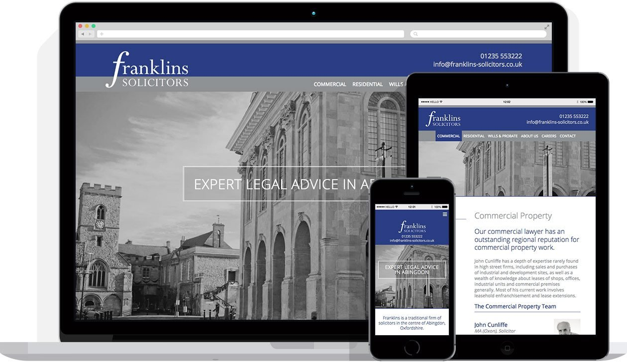 Web Design by Hello Design for Franklins Solicitors